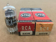 LOT OF 2 RCA 3AV6 VINTAGE ELECTRON VACUUM TUBE