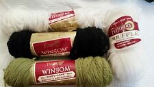 Fleisher's Winsom and Souffle acrylic yarn 4 skeins