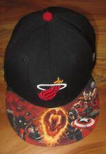 NEW RARE NBA Miami Heat Marvel Comics Boys Cap, Size 6-3/4