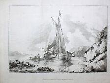 George Morland Brighton Sailboat Fishing Sailing Anchor Coast Smuggler Fisherman