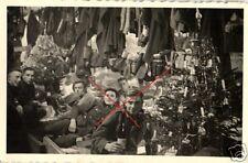 17368/ Originalfoto 9x6cm, Soldaten Weihnachtsfeier an der Front