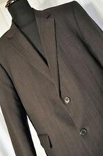 """Vintage navy blue pin stripe blazer jacket size large 44"""" mod classic"""