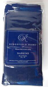 NEW Set of 12 Ridgefield Home Hanukkah Napkins 18 x 18 Polyester Judaic Menorah