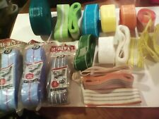 Large Lot Of Vintage Lawn Chair Re - Webbing Many Colors/ Sizes New