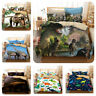 3D Jurassic Dinosaur Kids Bedding Set Quilt/Duvet/Doona Cover Pillow Cases 3PCS