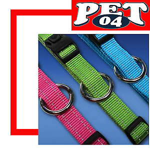 Rogz Utility Dog Collar - Side Release - Reflective Stitching - 10 Colours