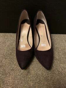 Faith Aubergine / purple Wedge Heels Ladies Women Shoes Size 5 (38) used