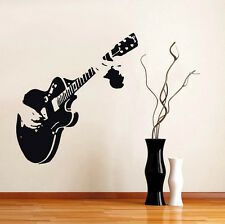 Guitar Guitarist Music Wall Sticker Home Art Decal Mural Wallpaper Decor DIY