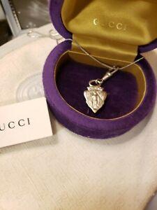 Vintage GUCCI Charm Silver Jewelry Necklace 80's Rare #007 104 0016 Handbag
