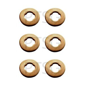 BMW X5 (E70) xDrive 30d / 35d / 40d Diesel Fuel Injector copper washers set of 6