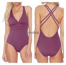 NWT Athena Double X Strap Back One Piece Swimsuit SZ 14 Bathing Suit Free SH