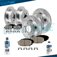 Front Rear Brake Rotors + Brake Pads Nissan Armada Brake Rotor Brakes Pad Kit