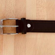 Belt: Savile Row. Black leather. New. Adjustable size
