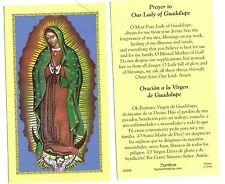 LOT of 2  English / Spanish ~ Prayer to Guadalupe Holy Prayer Cards Card