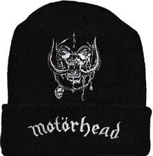 Motorhead Snaggletooth Warpig Wool Hat Black Beanie Knit Word Lemmy Kilmister