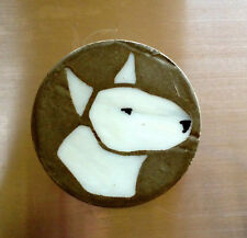 Bull Terrier Covered Dish Hand Made