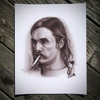 True Detective / Matthew McConaughey / Rust Cohle Graphite Drawing Poster Print