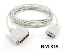 15ft DB9 Female to DB25 Male Serial Null Modem Cable - CablesOnline NM-315