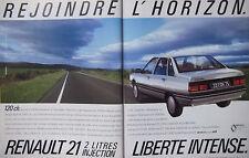 PUBLICITÉ DE PRESSE 1986 RENAULT 21 2 LITRES INJECTION - ADVERTISING