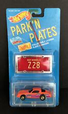 Hot Wheels 1988 Park'N Plates Orange Chevy Camaro Z28 Nib Good Condition