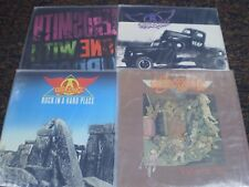 AEROSMITH 4 LP VINYL LOT: DONE MIRRORS, PUMP, ROCK HARD PLACE, TOYS IN THE ATTIC
