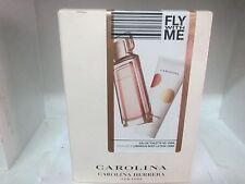 FLY WITH ME CAROLINA Set: By Carolina Herrera: 3.4 Fl Oz EDT & Body Lotion RARE