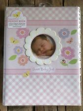 C.R. Gibson Stepping Stones Sweet Baby Girl Memory Book For First Five Years