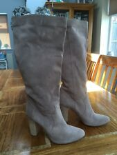 Mai Piu Senza Light Beige Suede Knee High Boots EUR 39 (Worn Once!)