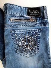 Womens Guess Jeans Size 31 Daredevil skinny leg Los Angeles Studded Pocket