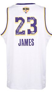 "LA Lakers No.23 ""The King"" & ""Mamba"" & ""M.J"" Autographed KB Edition Jersey + COA"