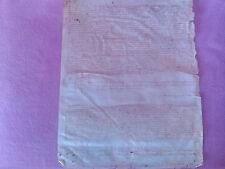 Manuscrit de Testament pour Svp de Bernat Amio Faron de Calella de 1500