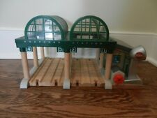 Thomas the Train Knapford Station Deluxe Wooden Track Working Microphone Rare!