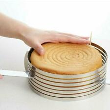 Adjustable Round Stainless Steel Mousse Cake Ring Mold Layer Slicer Cutter