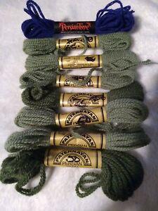 7 Skeins Paternayan & 1 PersianType Virgin Wool Needlepoint Tapestry Yarn