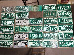 Vintage License Plates Lot of 48 -Colorado Misc Years -$5 Each -Read Description