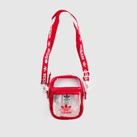 ADIDAS ORIGINALS CLEAR FESTIVAL CROSSBODY BAG (SCARLET RED)