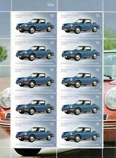 PORSCHE 911 TARGA 1965 SAMMLER BRIEFMARKEN 1 x 10er BOGEN * TOP GESCHENK *