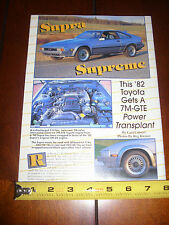 1982 TOYOTA SUPRA 7M-GTE 1990 POWERED - ORIGINAL 1995 ARTICLE