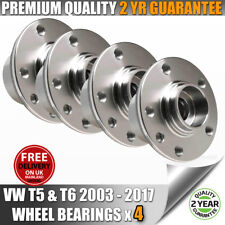 VW VOLKSWAGEN T5 TRANSPORTER FRONT & REAR WHEEL BEARINGS HUBS X 4 ALL MODELS