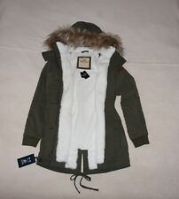 Womens Hollister by Abercrombie&Fitch Fur Parka Water Resistant Hoodie Jacket S