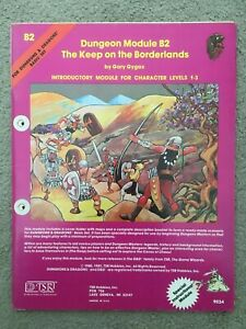 DUNGEONS & DRAGONS D&D THE KEEP ON THE BORDERLANDS B2 9034 TSR VINTAGE MODULE