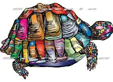 Iron On T-Shirts & Other Fabrics Heat Transfer Graphic - Turtle Colorful Art.