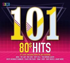 101 80'S HITS 5 CD BOXSET VARIOUS ARTISTS (EIGHTIES) - NEW RELEASE MAY 2017