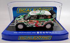 "Scalextric ""Palmeirinha"" Mini Countryman WRC DPR W/ Lights 1/32 Slot Car C3523"