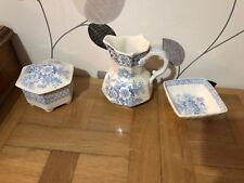 3 Mason's Ironstone China Ashets Blue Pheasant Pattern