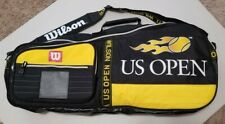 "Vintage Wilson US Open Multiple Racket Yellow And Black 28"" Tennis Racquet Bag"