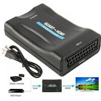 HD 1080P SCART zu HDMI Video Audio Upscale Konverter Adapter DVD SkyBox