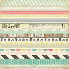 Crate Paper WASHI PAPER 12x12 Sheet scrapbooking VINTAGE Eclectic
