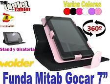 "FUNDA PARA TABLET WOLDER MITAB GOCAR 7"" BARATA STAND LIBRO"