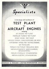 Heenan & Froude Ltd. Worcester AIRCRAFT ENGINES Historische Reklame von 1949